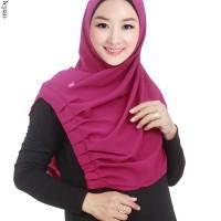 Jilbab Langsung Syiria Bahan Bubble Pop Dengan Hiasan Rempel - JLC189