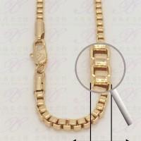 Yaxiya kalung italy 3mm perhiasan imitasi warna gold 18K
