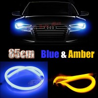 "Lampu DRL Flexible LED ""Osram"" Alis 85cm 2 Warna Blue Amber (B/Y)"