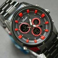 Jam Tangan Lasebo Ori Chrono Jtr 623 Black Red