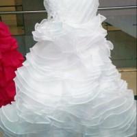 gaun anak/gaun pesta anak/gaun anak warna putih/baju pesta anak