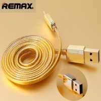 Remax Gold Lightning Braided Cable For IPhone 6/6 + / 5/5s