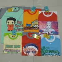 Grosir Kaos Anak Muslim,minimal 6 pcs