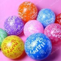 Balon Latex Motif HappyBirhtday (full body)
