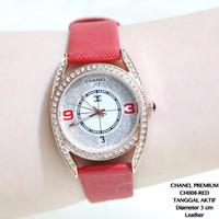 PROMO Jam Tangan Wanita Chanel Kulit Premium Tanggal Aktif Import Gues