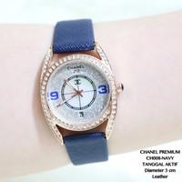 PROMO Jam Tangan Wanita Chanel Mutiara Pesta Leather Kulit Tanggal Gro