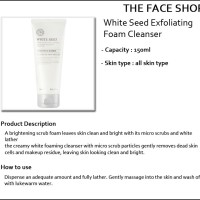 The Face Shop White Seed Exfoliating Foam Cleanser