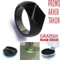 Ring/Cincin Black Jade Aceh Terapi Model Diamond