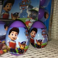 Surprise Egg, Mainan Telor Paw Patrol, Figure Paw Patrol + Stiker