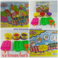 Mainan Lilin FunDoh Playdoh Ice Cream Bars Es Lilin Stick Lolypop 200g