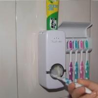 Dispenser Odol Dan Holder Tempat Sikat 1 Set Praktis Murah