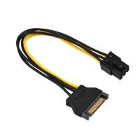 Kabel Power SATA 15 Pin To 6 Pin   6pin PCI-E Video Card   VGA