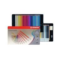 STABILO Pensil Warna / Pencil Art Carbothello Set 60 Metal Box