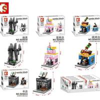 Lego Kw Sembo Block Modular 4 in 1 SD6030 Dior SD6031 Cake Shop SD6032