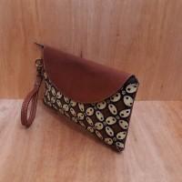 Libera_indoo clutch pesta batik tulis motif kawung kulit sapi full up