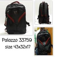 tas backpack palazzo 33759 tas ransel sekolah blackred