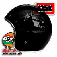 harga helm custom 100/model bogo, cargloss, vespa, hitam list crome krom Tokopedia.com
