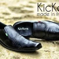 Jual sepatu kerja formal pria Kickers Pantofel Kalong Kulit Baru