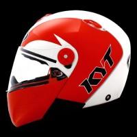 Jual helm kyt X Rocket Retro White Pearl Gold / Red Baru | Helm Full