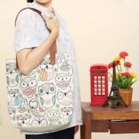 harga Totebag Owl Family | Tas Wanita Kualitas Premium Tokopedia.com