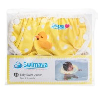 Swimava Yellow Duckie Diaper Yellow