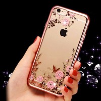 Jual Casing Case Cover HP Silicon iPhone 5 5s 6 6s 6 PLUS 6s PLUS Flower Murah