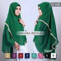Jilbab Kinara Renda Premium / Kinara Renda Jumbo / Jilbab Kinari Renda