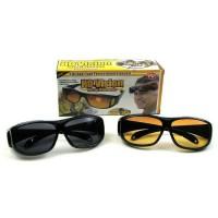 Kacamata HD Vision / Anti Silau / 1 box isi 2 pcs / Siang dan Malam