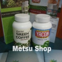 Green Coffee Extract + Yacon(Cambogia Set) Original USA By Biotrimlabs