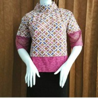blouse batik kombinasi brokat ll harga murah