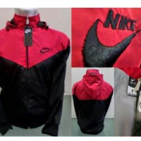 Jaket Hoodie Pria Nike Parasut / Jaket Sweater Cowok Distro