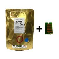 Bubuk Toner Xerox Laserjet CP105b/CP205 CYAN Colour Japan + Chip