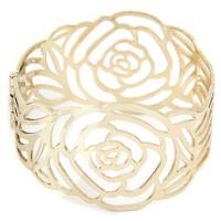 Bangle Gold flower forever 21