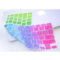 Keyboard Cover Silicone Rainbow Color for Macbook Air 13 / Pro 13 Inch