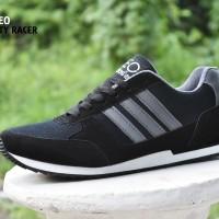 harga Sepatu Pria Adidas Neo City Racer / Hitam Abu / sport casual kets Tokopedia.com
