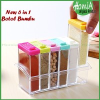 [ 6 in 1 ] TEMPAT RAK BUMBU - SEASONING SET