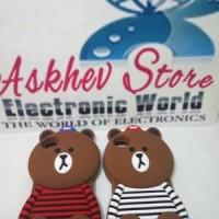 harga Case 4D Brown Kaos Line Iphone 4 4G 4S (karakter/softcase/soft/3D/kart Tokopedia.com