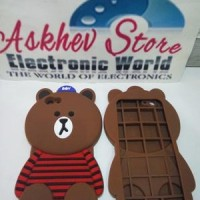 harga Case 4D Brown Kaos Line Oppo F1S A59 (karakter/softcase/soft/3D/kartun Tokopedia.com