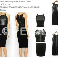 Mini Dress Combi Leather Sintetic Import Code IW
