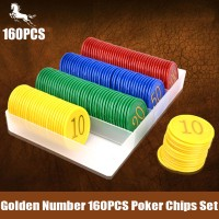 Poker chip set 160 chips