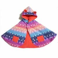 Bibbo Babycape Rainbow Love Flakes / Baby Cape Jaket Bayi Cloak