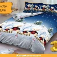 Bed Cover set Kintakun D'luxe 3D Queen 160 / King 180 SNOW BEAR