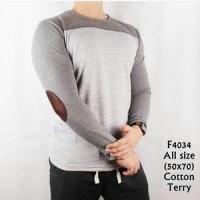 kaos cotton lengan panjang