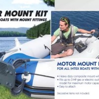 Composite Boat Motor Mount Kit for Inflatable Boats - INTEX 68624