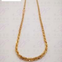 Yaxiya kalung rantai balok perhiasan imitasi warna gold 18K