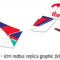 #T289 ktm redbul replica graphic sticker (ktm series)