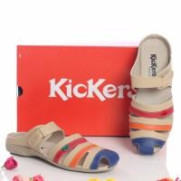 Jual sepatu sandal murah wanita KICKERS grade ori bustong cream Murah