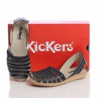 sepatu murah wanita cewek KICKERS grade ori wedges black