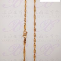 Yaxiya (anting korea cincin gelang liontin) kalung warna gold18k