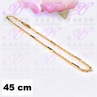 Yaxiya (anting gelang cincin liontin) kalung rantai nuri balok gold18k